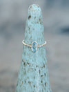 Hexagon Moss Aquamarine Ring in Eco Gold