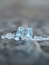 Trapeze Blue Topaz Earrings