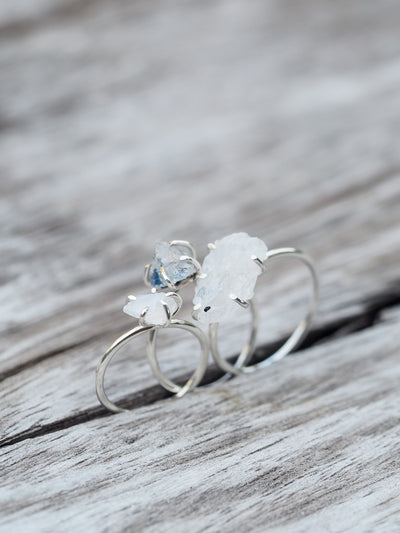Rough Moonstone Ring - Gardens of the Sun Jewelry
