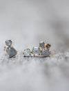Grey Rose Cut Diamond Earrings - Gardens of the Sun Jewelry