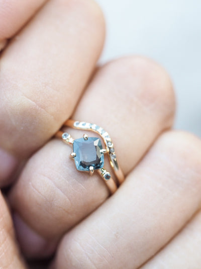 RESERVED Spinel Alternative Bridal Ring Set - Gardens of the Sun Jewelry