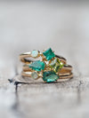 Gold Emerald and Peridot Ring - Gardens of the Sun Jewelry