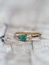 North Carolina Emerald and Opal Ring in Gold - Gardens of the Sun Jewelry