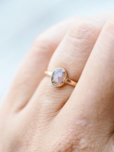 Watermelon Tourmaline Ring in Rose Gold