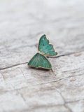 Emerald Wing Earrings - Gardens of the Sun Jewelry