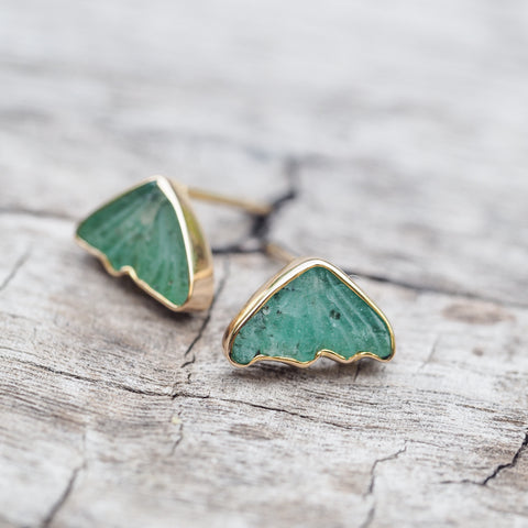 Emerald Wing Earrings