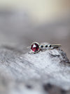 Rose Cut Garnet and Black Spinel Ring - Gardens of the Sun Jewelry