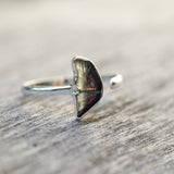 Bicolor Dark Tourmaline Wing Ring