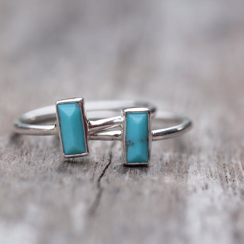 Turquoise Bar Ring - Gardens of the Sun Jewelry