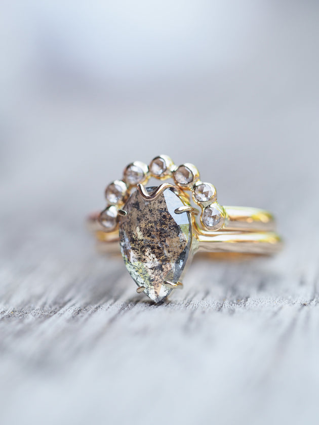 crown natural diamond ring