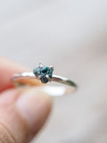 Mermaid Rebel // Raw Blue Diamond Ring - Gardens of the Sun Jewelry