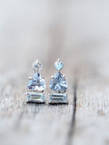 Tanzanite Aquamarine and Moonstone Tower // Single Earring - Gardens of the Sun Jewelry
