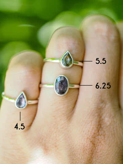 Unheated Sapphire Ring - Gardens of the Sun Jewelry