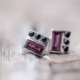 Garnet and Spinel Earrings - Gardens of the Sun Jewelry