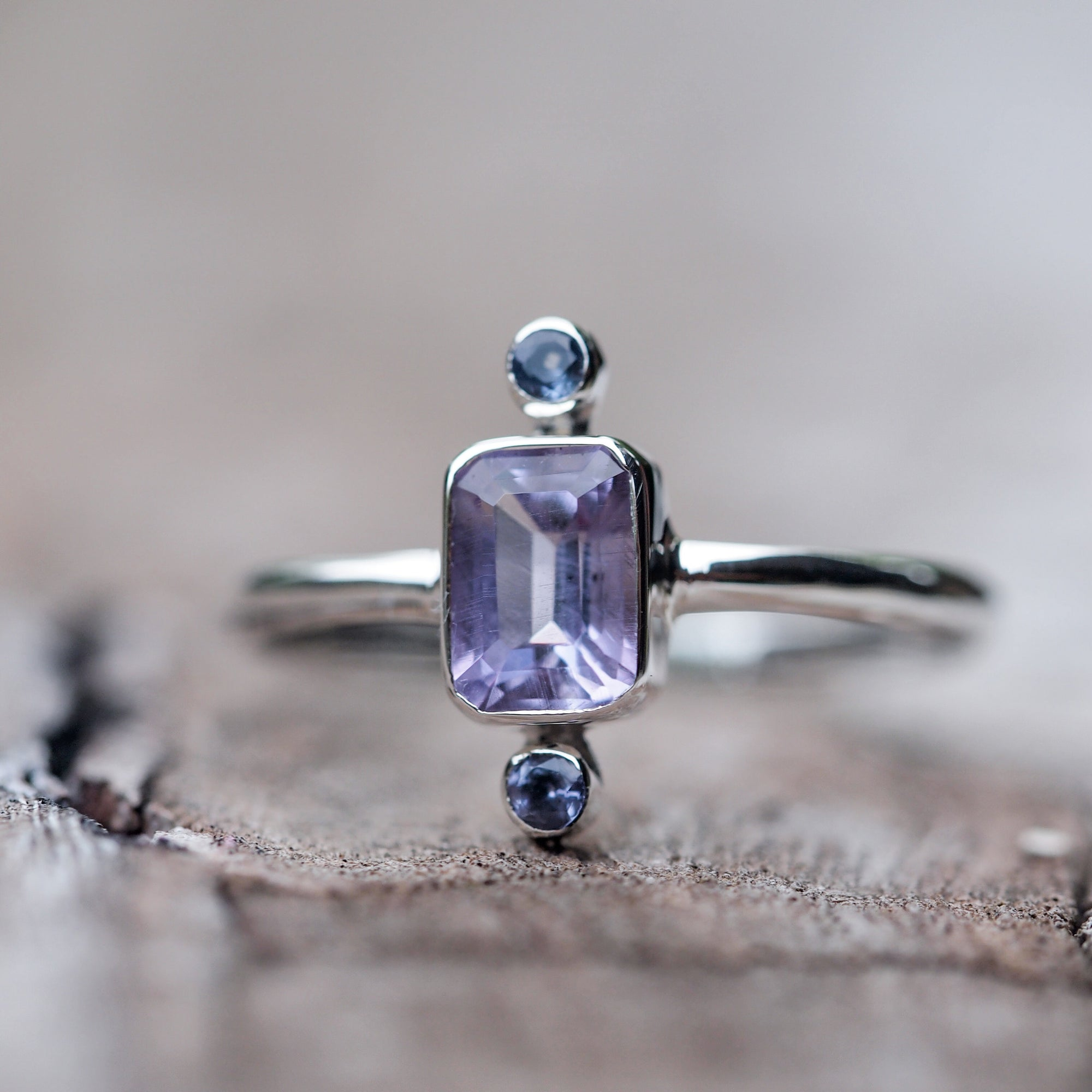 Meaning of Light // Amethyst and Tanzanite Ring