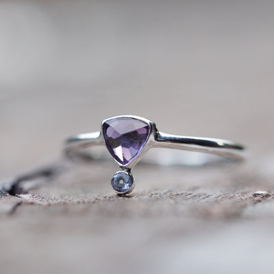 Upside Amethyst Ring - Gardens of the Sun Jewelry