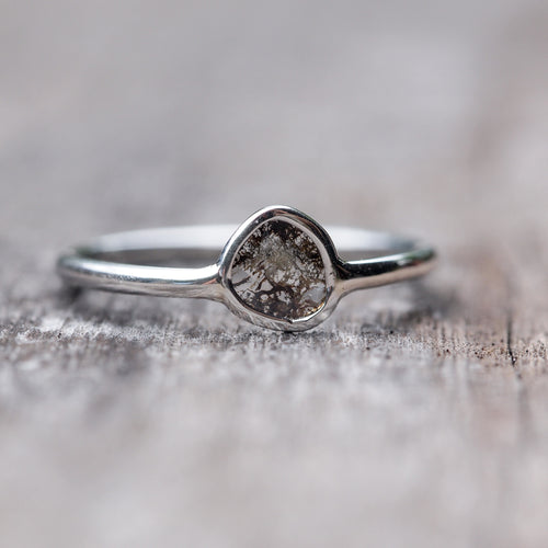 Freedom // Small Diamond Slice Ring - Gardens of the Sun Jewelry