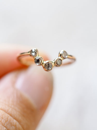 Champagne Diamond Nesting Ring - Gardens of the Sun Jewelry