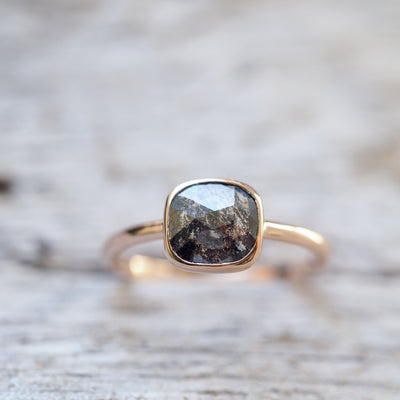 Harmony Dark Diamond Ring - Gardens of the Sun Jewelry