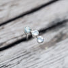 Constellation Drop // Aquamarine and Moonstone Earrings - Gardens of the Sun Jewelry