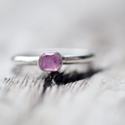 Pink Sapphire Crystal Ring - Gardens of the Sun Jewelry