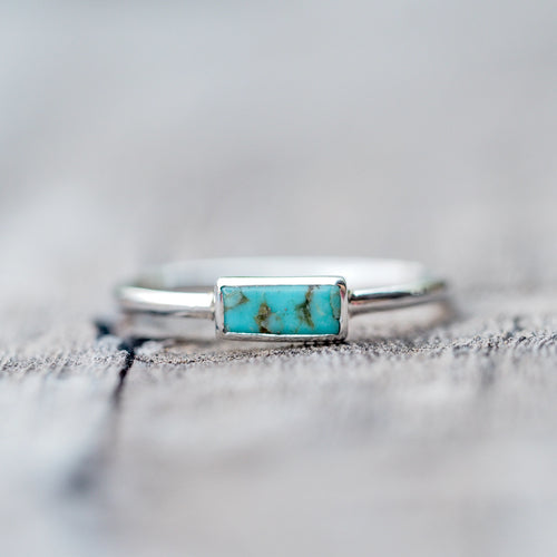 Baguette Turquoise Ring - Gardens of the Sun Jewelry