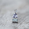 Tanzanite Aquamarine and Moonstone Tower Earrings - Gardens of the Sun Jewelry