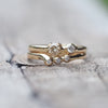 Asymmetric Diamond Ring Set - Gardens of the Sun Jewelry