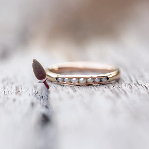 Pearl Ring in Gold // Hidden Gems - Gardens of the Sun Jewelry
