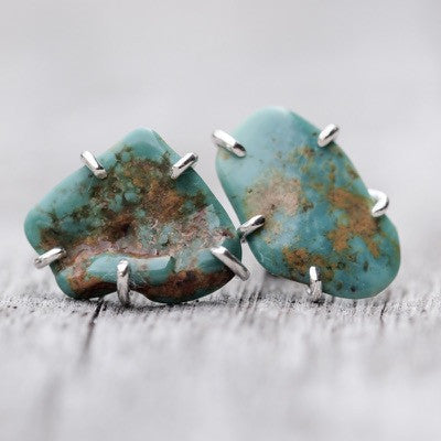 Roystone Turquoise Earrings - Gardens of the Sun Jewelry