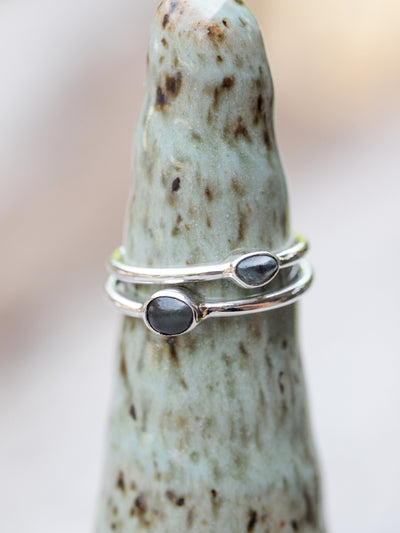 Montana Sapphire Pebble Ring - Gardens of the Sun Jewelry