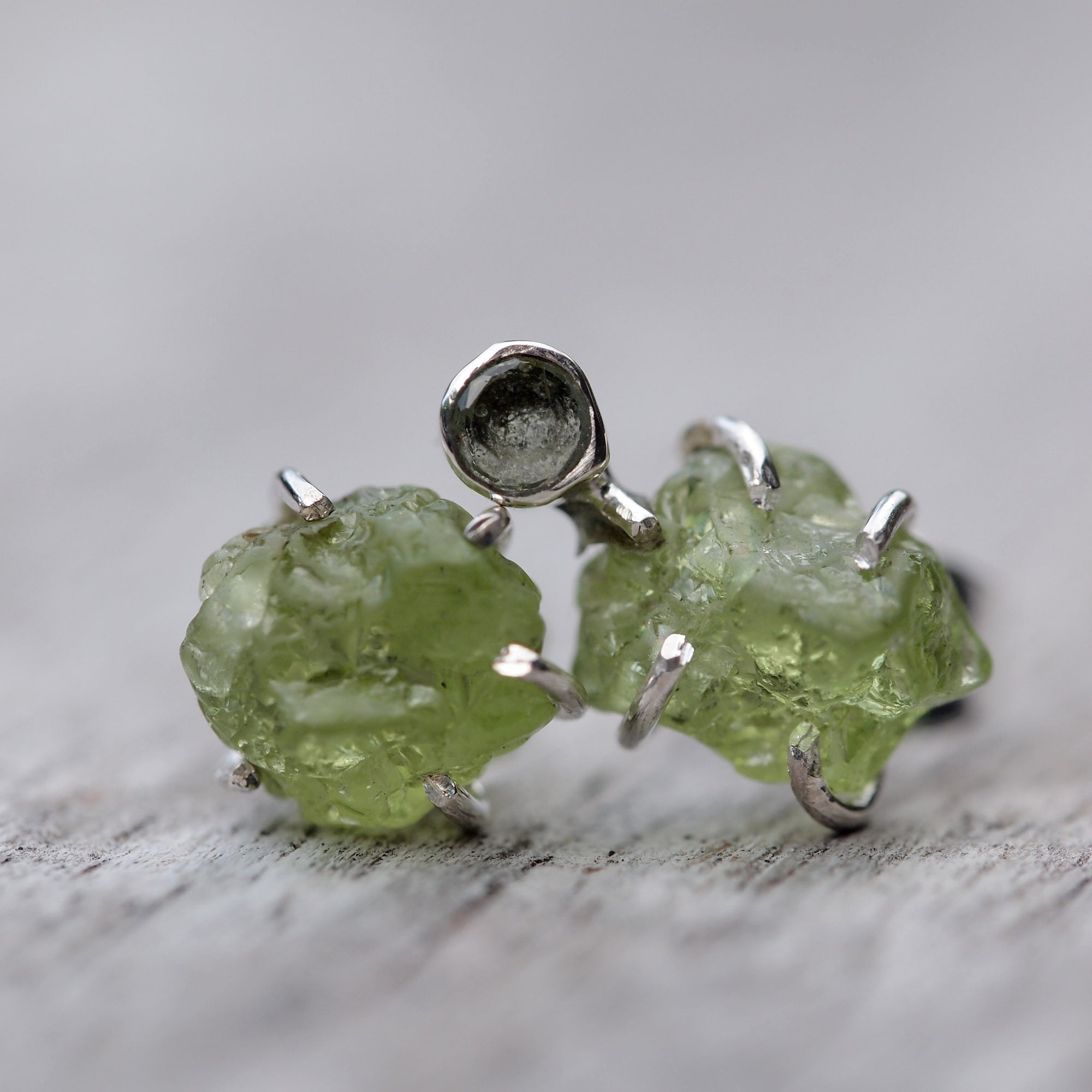 Arizona Peridot Mismatched Earrings - Gardens of the Sun Jewelry