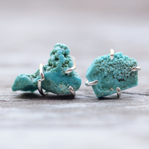 Nevada Turquoise Earrings - Gardens of the Sun Jewelry
