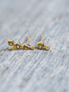 Mismatched Fall Diamond Earrings in Yellow Gold - Gardens of the Sun Jewelry