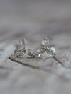 AA Meri check Diamond Flower Earrings - Gardens of the Sun Jewelry