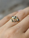 Angel Wings Diamond Ring Set in Pale Gold - Gardens of the Sun Jewelry