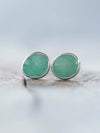 AA Rose Cut Emerald Earrings - Gardens of the Sun Jewelry