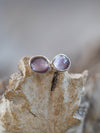 AA Rose Cut Amethyst Earrings - Gardens of the Sun Jewelry