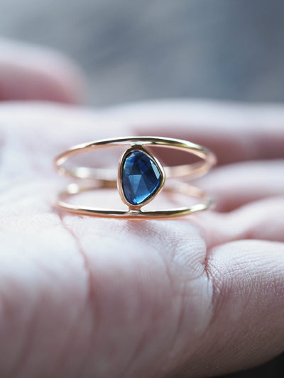 Vita Rose Cut Sapphire Ring | Build Your Own