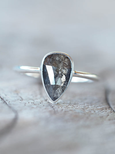Rose Cut Pear Diamond Ring in Silver | Build Your Own