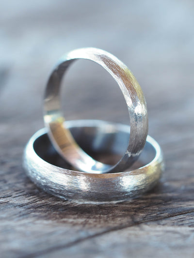 Brushed Wedding Band - Gardens of the Sun Jewelry