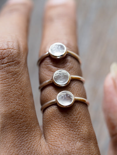 Moonstone Smile Ring
