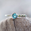 Apatite and Peridot Ring - Gardens of the Sun Jewelry