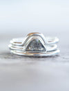 Diamond Mountain Ring Set - Gardens of the Sun Jewelry