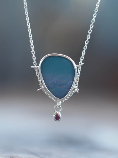 Opal and Garnet Necklace