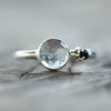 Unspoken II / Tourmalinated Quartz and Black Spinel Ring