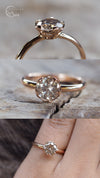 Grey Borneo Diamond Ring in Rose Gold