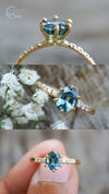 Oval Mermaid Sapphire Ring in Eco Gold