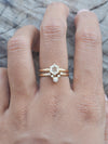 Hexagon Diamond Ring Set in Eco Gold