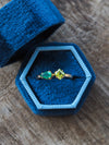 Gold Emerald and Peridot Ring